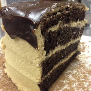 Chocolate Peanut Butter-Cake Slice