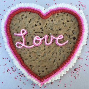 valentines day cookie cake love