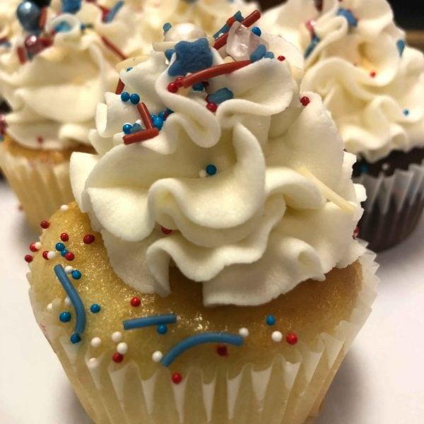 July 4th Cupcake Close Up
